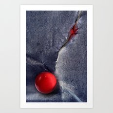THE RED BALL Art Print