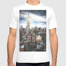 empire state building Mens Fitted Tee White SMALL