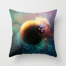 Stole a Timelord Throw Pillow