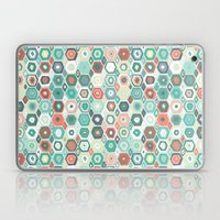 Hex Diamond Coral Mint Laptop & iPad Skin