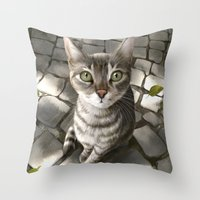 A Cat That I Once Knew Throw Pillow