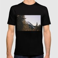 Snow Mountain In The Tre… Mens Fitted Tee Black SMALL