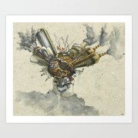Illustration Baobabs Ver… Art Print