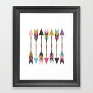 Framed Art Print featuring Bohemian Arrows by Bohemian Gypsy Jane