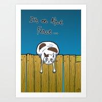 I'm On The Fence Art Print