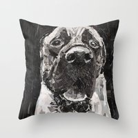 Maker The Mastiff Throw Pillow