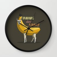Bananas About Llamas! Wall Clock