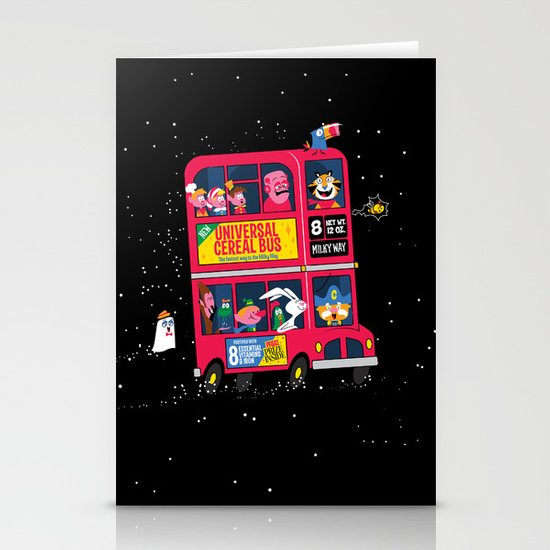 Universal Cereal Bus Stationery Card