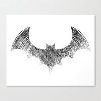 Chirorptera - Whiteout Canvas Print