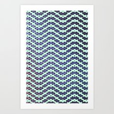 Chevron With A Twist Art Print
