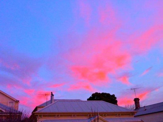 Sunset over J St Art Print