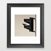 Traffic Bird Framed Art Print