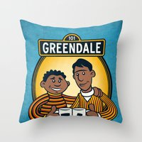 Greendale Street Throw Pillow