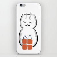 Cat Art: Present Time iPhone & iPod Skin