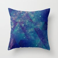 Static Waves Throw Pillow