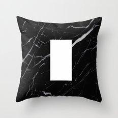 Black Marble - Alphabet I Throw Pillow