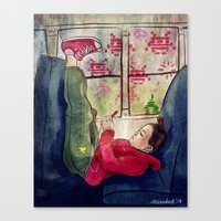Girls & Video Games Canvas Print
