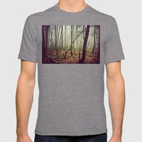 Out In The Woods Today Mens Fitted Tee Tri-Grey SMALL