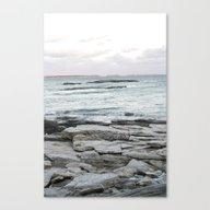 Frozen Maine Ocean Canvas Print
