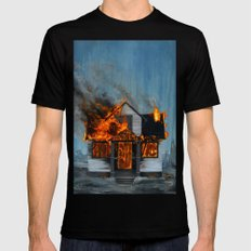 House on Fire Mens Fitted Tee Black SMALL