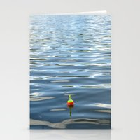 Fishing Bobber In Water … Stationery Cards
