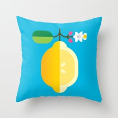 Fruit: Lemon Throw Pillow