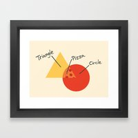A College Venn Diagram Framed Art Print