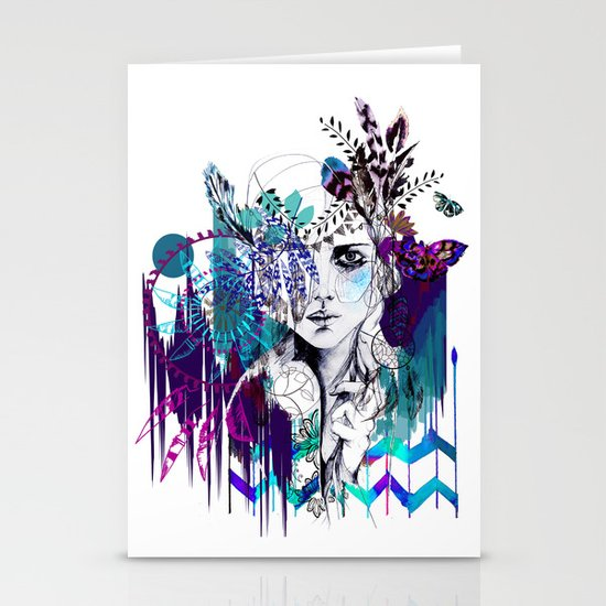 Tribal Girl - Colourway - Stationery Card