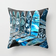 Skate Seats Throw Pillow