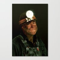 The Miner Canvas Print