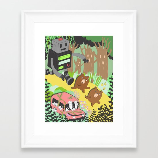 Run Run Run Framed Art Print