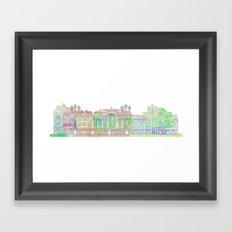 Watercolor Cityscape Framed Art Print