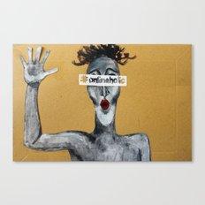 #onlinaholic Canvas Print