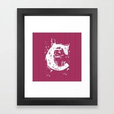 Alphabet C Framed Art Print