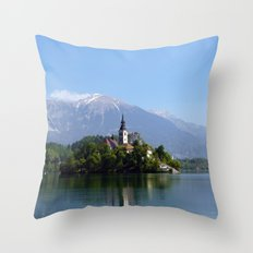Lake Bled, Slovenia Throw Pillow