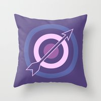 Targets, Arrows, and Purples Throw Pillow