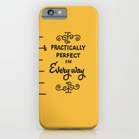 iPhone Cases featuring Practically perfect in every way mary poppins measuring tape..  by studiomarshallarts