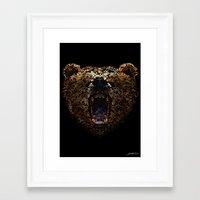 Floral Bear Framed Art Print