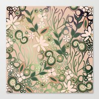 Detailed Square Of Peach… Canvas Print