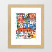 Stereo Werewolf No.1 Framed Art Print