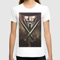 VENDETTA Womens Fitted Tee White SMALL
