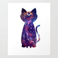 Moon Sailor Kitty Art Print