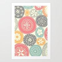 Candy Circles Art Print
