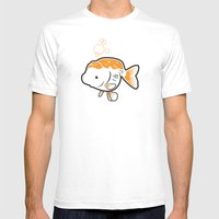 Ranchu Goldfish Mens Fitted Tee White SMALL