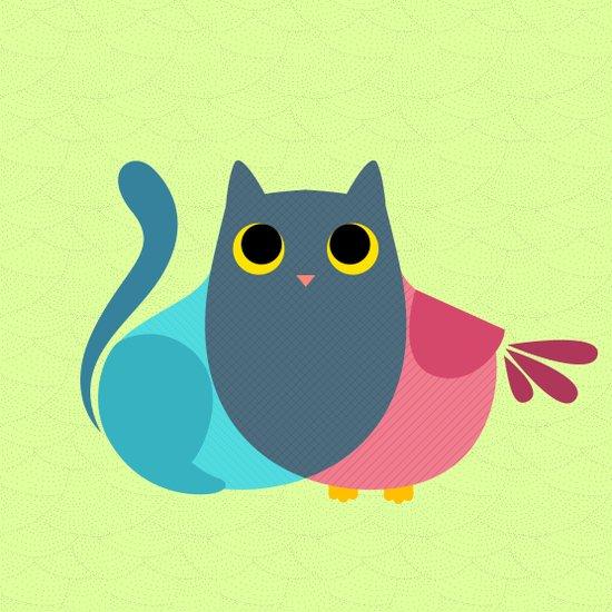 Owlcat Venn Diagram Art Print