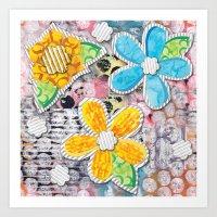 Paper Flower Power Art Print