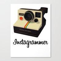 Instagrammer Canvas Print