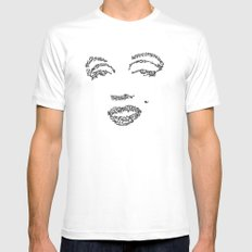 Marilyn Monroe WordsPortrait SMALL Mens Fitted Tee White