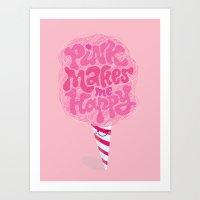 cotton candy pinkaholic Art Print