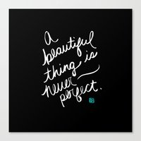A Beautiful Thing (inverted) Canvas Print
